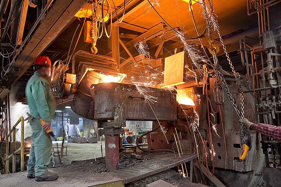 MANUFACTURING — heavy steel foundry — Unicast