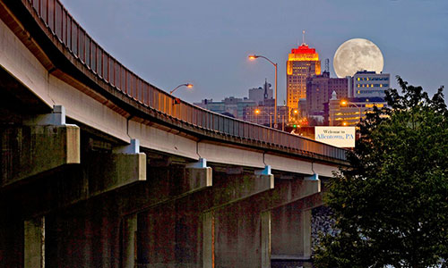<p>Revitalized downtown Allentown, a bridge to the future.</p>