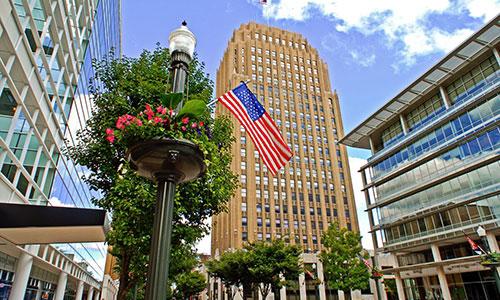 <p>Allentown, Pennsylvania is the regional commercial center.</p>
