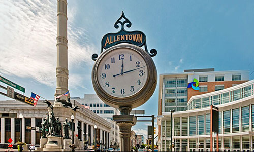 <p>Hamilton Street, the commercial thoroughfare of downtown Allentown.</p>